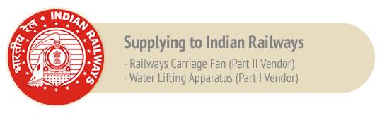 Supplying to Indian Railways
